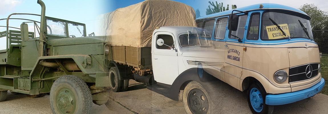 Camiones, militares y autobuses